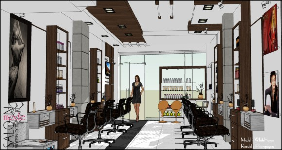 making of beauty salon sketchup 3d rendering tutorials by sketchupartists. Black Bedroom Furniture Sets. Home Design Ideas