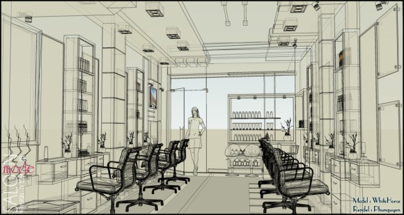 20 - Making of Beauty Salon - Some more final presentation images
