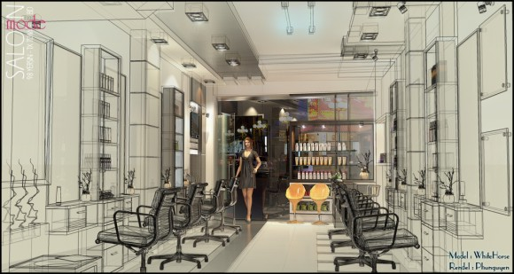 21 - Making of Beauty Salon - Some more final presentation images