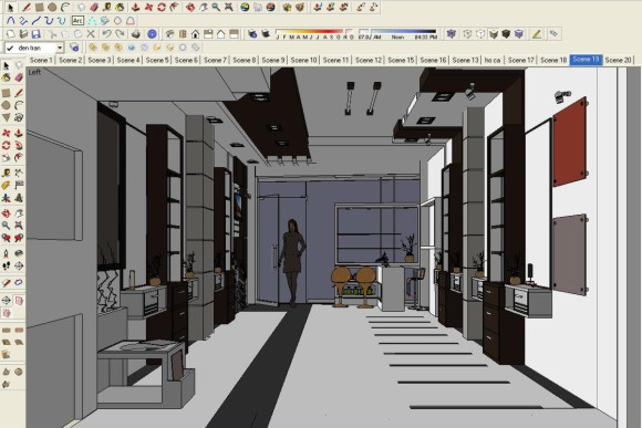 Making of beauty salon sketchup 3d rendering tutorials by sketchupartists - Plan 3d salon ...