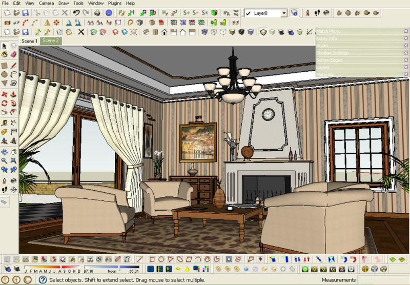 Making of a Classic Room :: SketchUp 3D Rendering Tutorials by ...