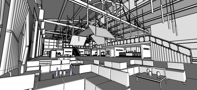 Adam Warner Identity Nightclub Sketchup 3d Rendering