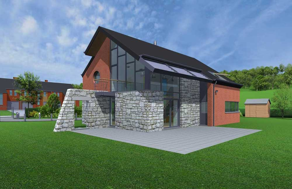 Image gallery sketchup architecture - Traditional houses three beautiful examples ...