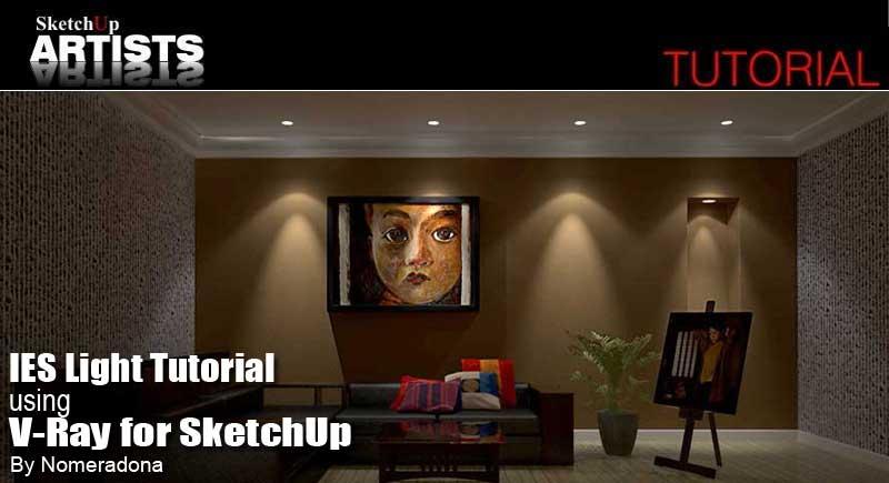 IES Light Tutorial using V-Ray for SketchUp :: SketchUp 3D Rendering
