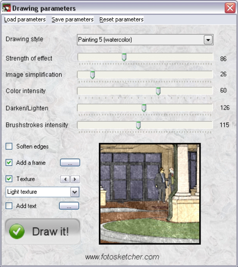 PhotoSketcher Settings by Eric Lay 05