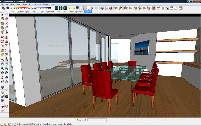 modele 3d sketchup table de lit a roulettes. Black Bedroom Furniture Sets. Home Design Ideas
