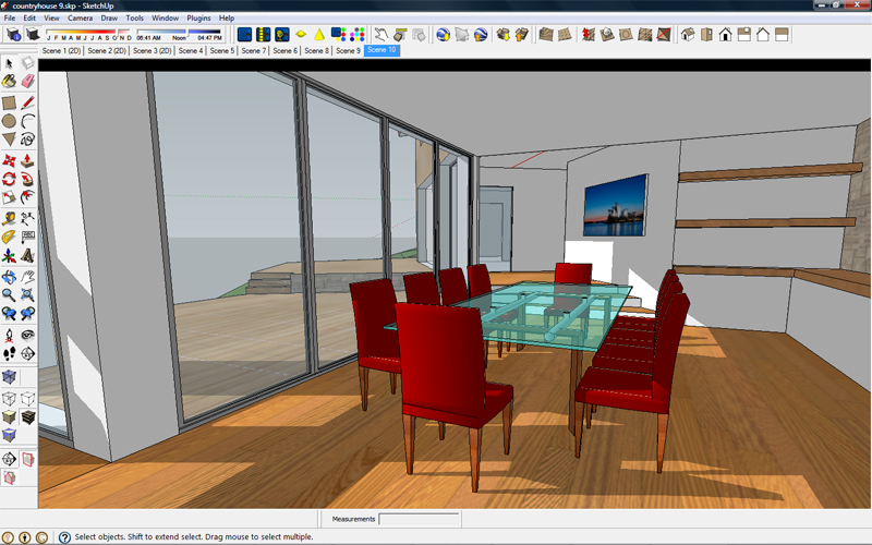 Architectural rendering with sketchup and kerkythea for How do you get into interior design