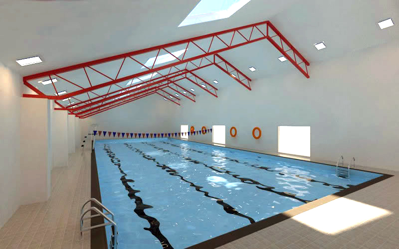 how to draw a swimming pool in sketchup