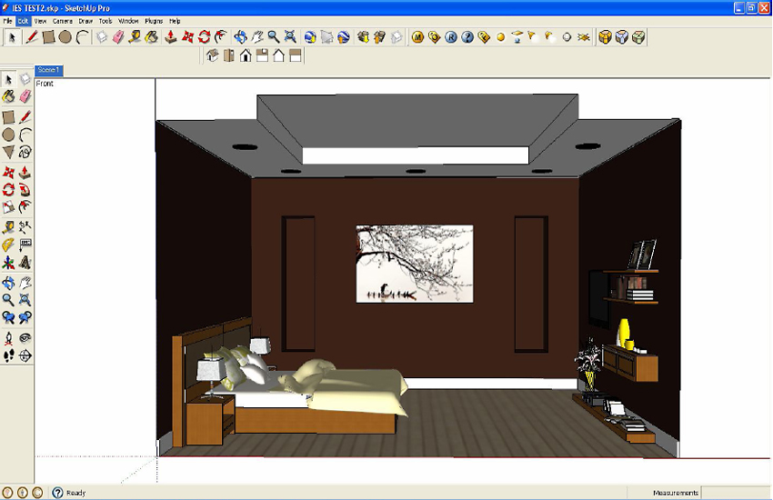 Basic IES Light Tutorial Using V Ray For SketchUp 3D