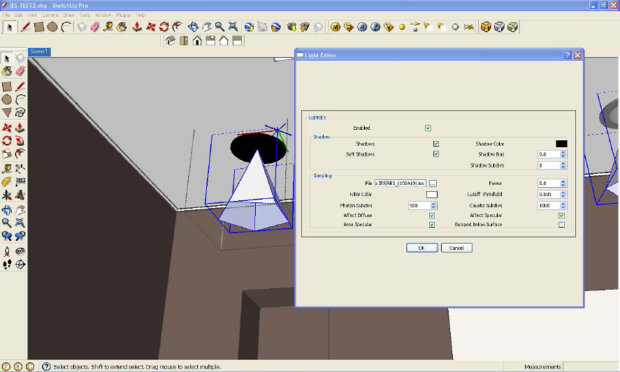nomernew3  sc 1 st  Sketchupartists & Basic IES Light Tutorial using V-Ray for SketchUp :: SketchUp 3D ...
