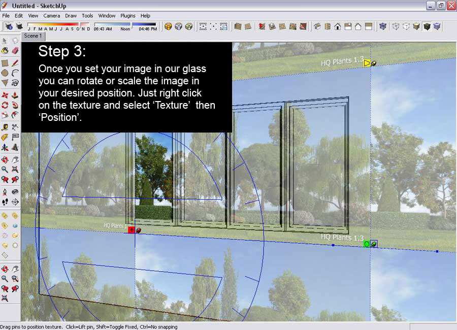 Glass reflection texture  Glass Reflection Effect – SketchUp and V-Ray :: SketchUp 3D ...