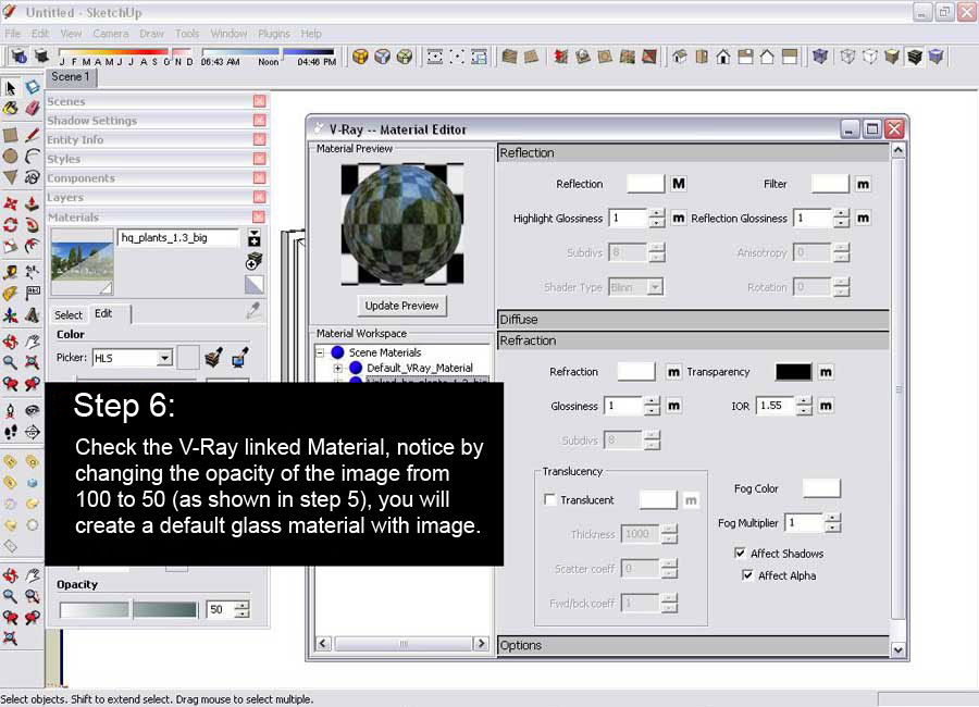 Glass reflection effect sketchup and v ray sketchup for 3d setup builder