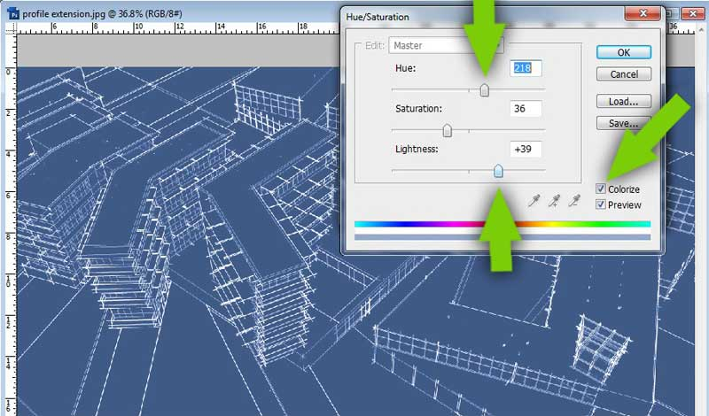 3d blueprint tutorial sketchup kerkythea and photoshop create blueprint color malvernweather Images