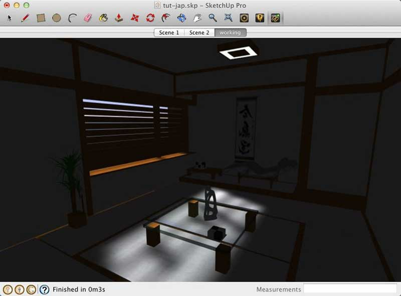 Interior Lighting with LightUp for SketchUp :: SketchUp 3D Rendering