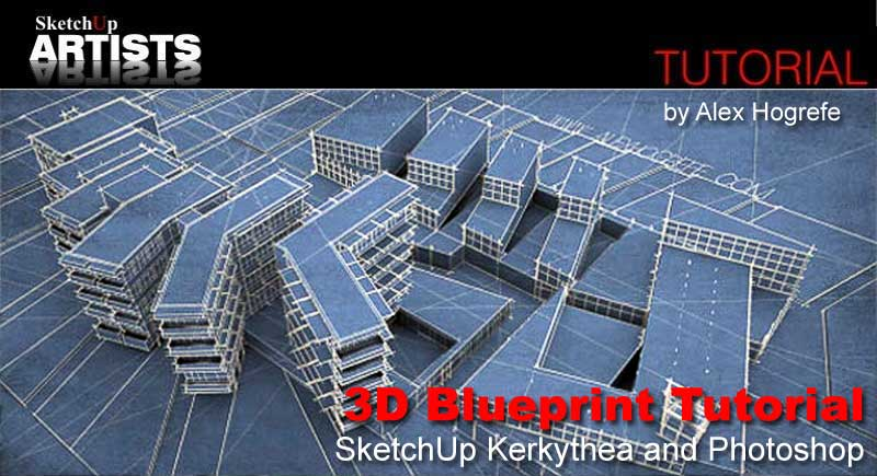 3d blueprint tutorial sketchup kerkythea and photoshop to malvernweather Choice Image