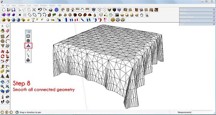 Make a Tablecloth in SketchUp :: SketchUp 3D Rendering Tutorials by