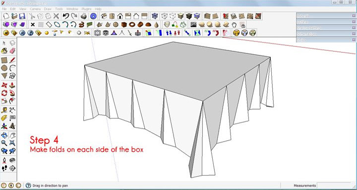 Make A Tablecloth In Sketchup Rendering