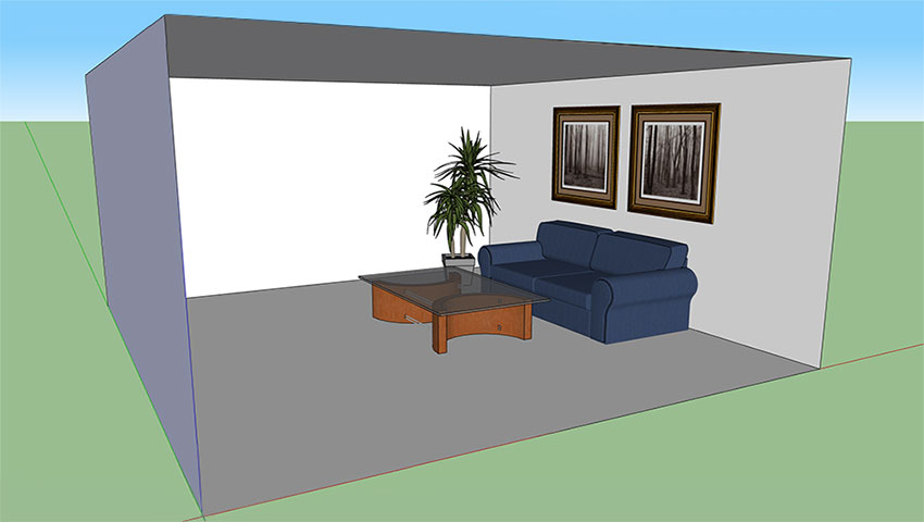 Raylectron: simple living room render :: SketchUp 3D