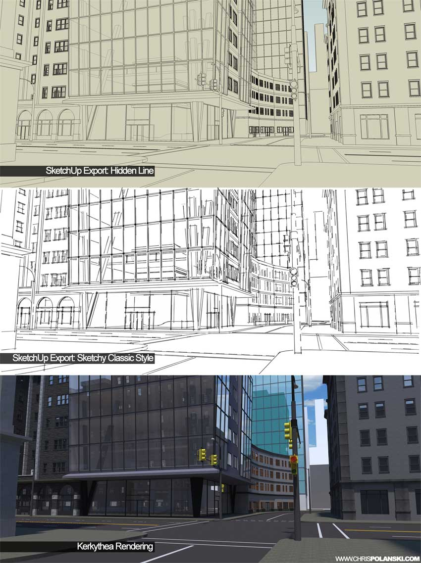 Quick Architectural Marker Illustrations Sketchup 3d