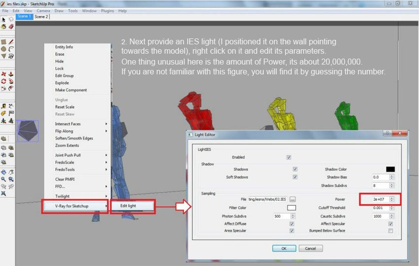 Setting up IES Lights in V-Ray for SketchUp :: SketchUp 3D