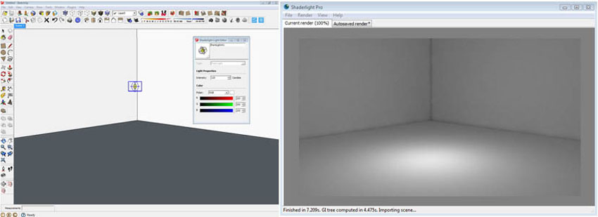 learn about lighting in shaderlight sketchup 3d rendering