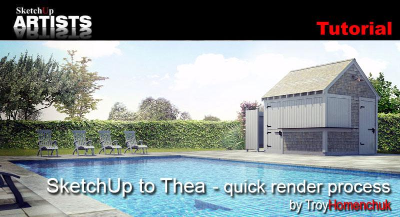Exterior render – sketchup podium & photoshop:: sketchup 3d.