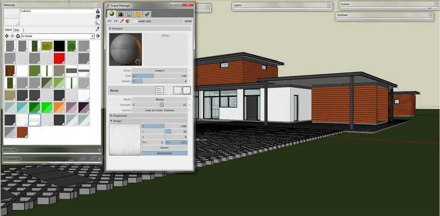 Maxwell for SketchUp – architectural visualization part 2