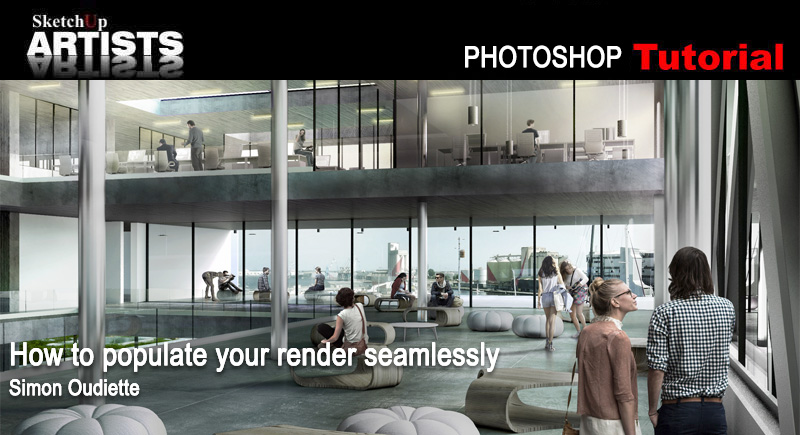How to Populate Your Render – seamlessly :: SketchUp 3D