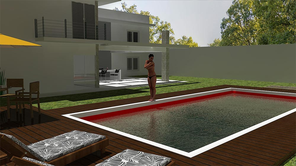 How to create realistic pool water in sketchup and for Pool design sketchup