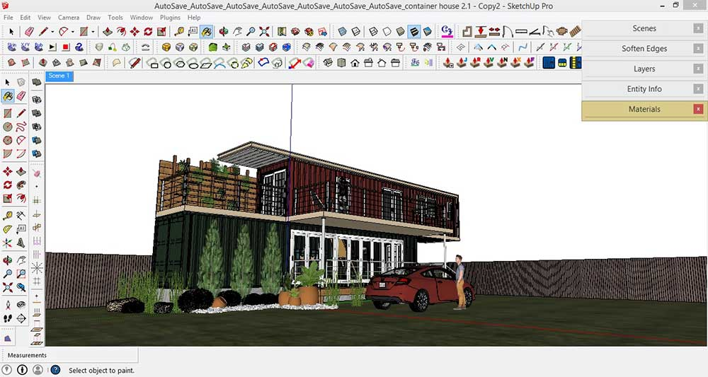 Making of Container House: SketchUp, V-Ray and Post