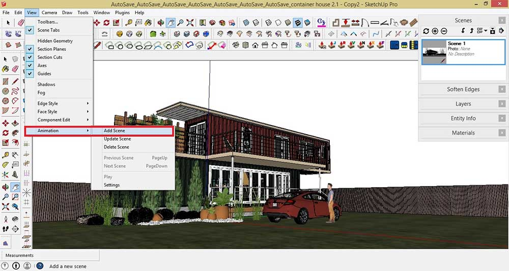 Making Of Container House Sketchup V Ray And Post