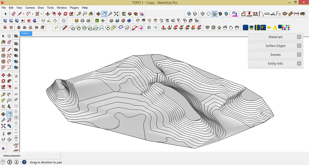 Make a Topographic Map Using SketchUp and Google Maps