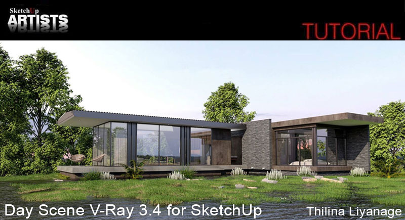 Exterior: Day Scene V-Ray 3.4 For SketchUp :: SketchUp 3D Rendering
