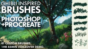 Ghibli Inspired Brushes for Photoshop